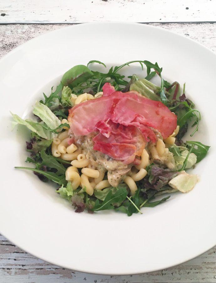 Koolhydraatarme pasta met champignonsaus