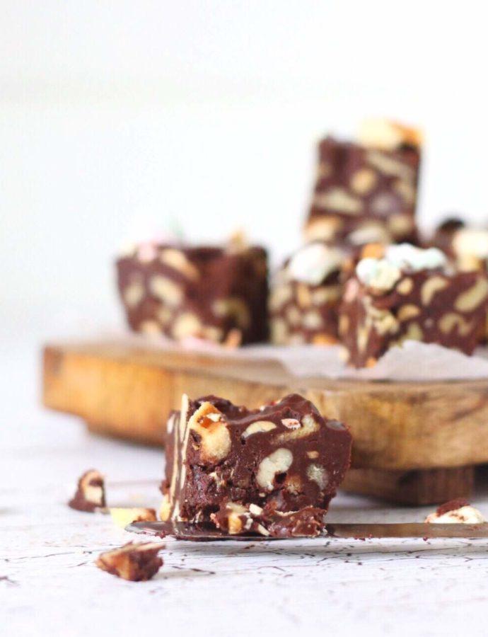 Suikervrije Rocky Road chocolade