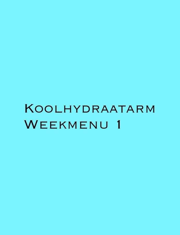 Blog: Koolhydraatarm weekmenu 1
