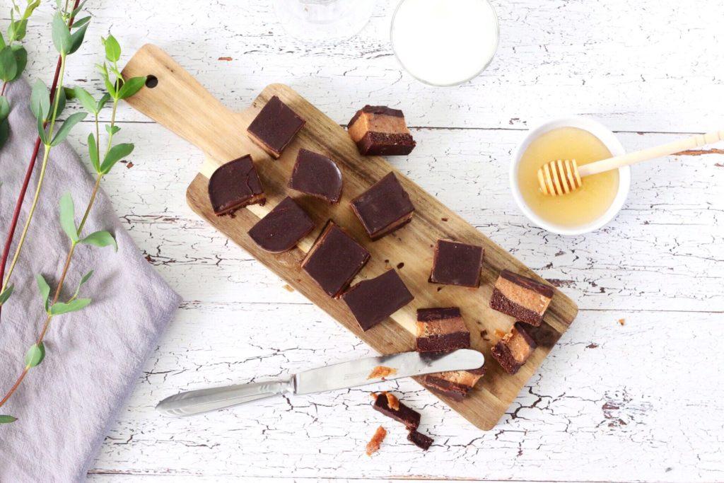 Suikervrije chocolade karamel koeken