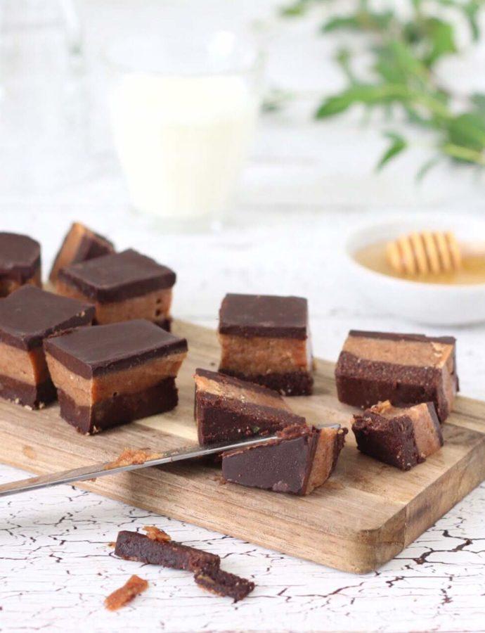 Koolhydraatarme en suikervrije chocolade karamel koeken