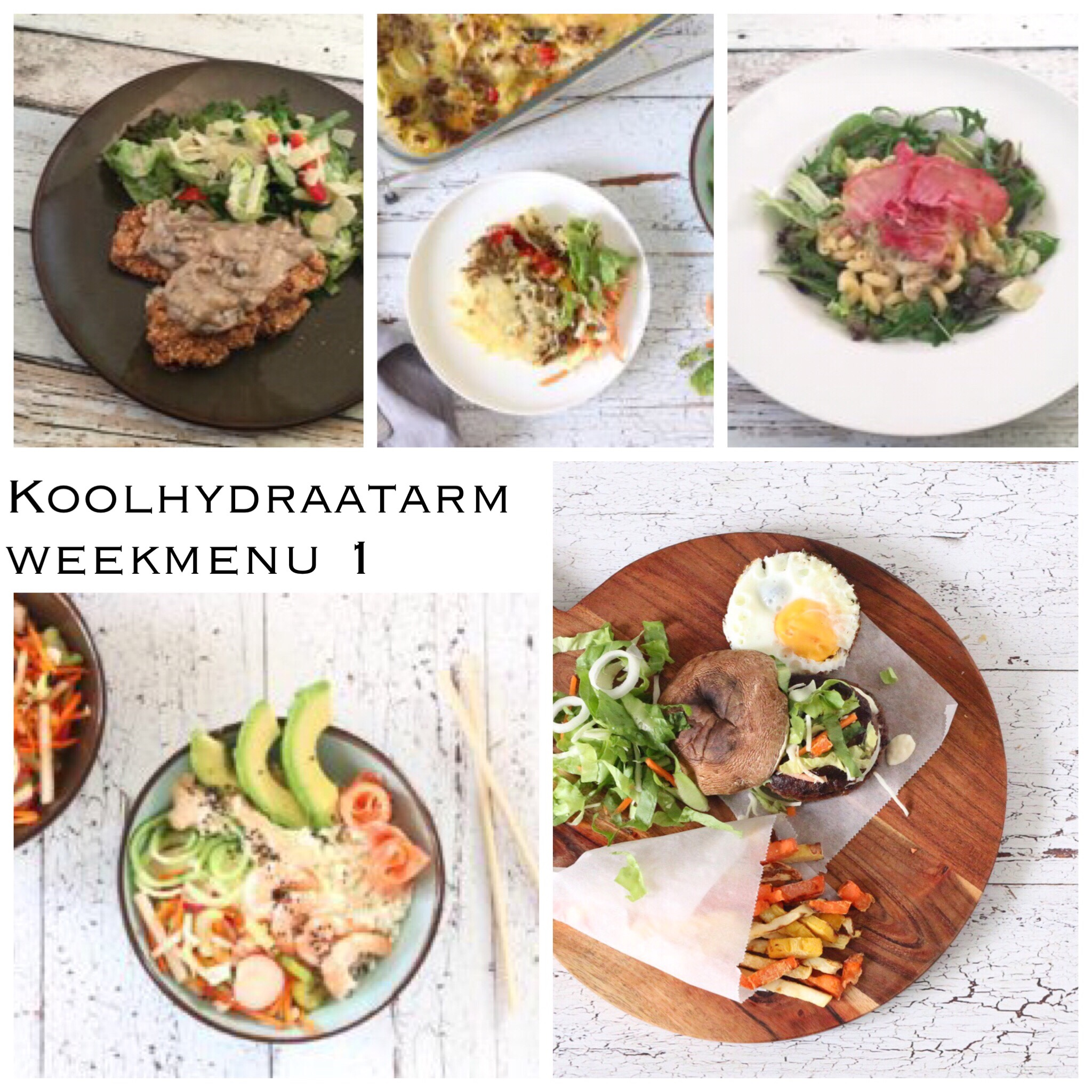 Koolhydraatarm weekmenu 1