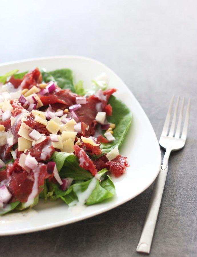 koolhydraatarme Caesar carpaccio salade