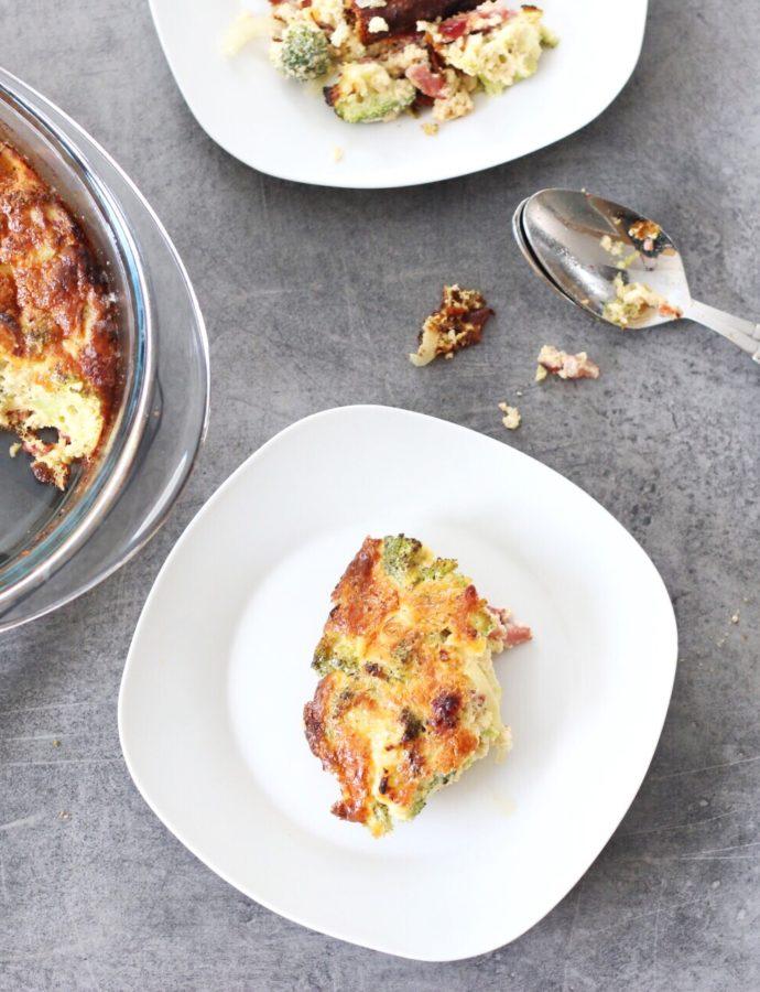 Koolhydraatarme broccoli taart (quiche)