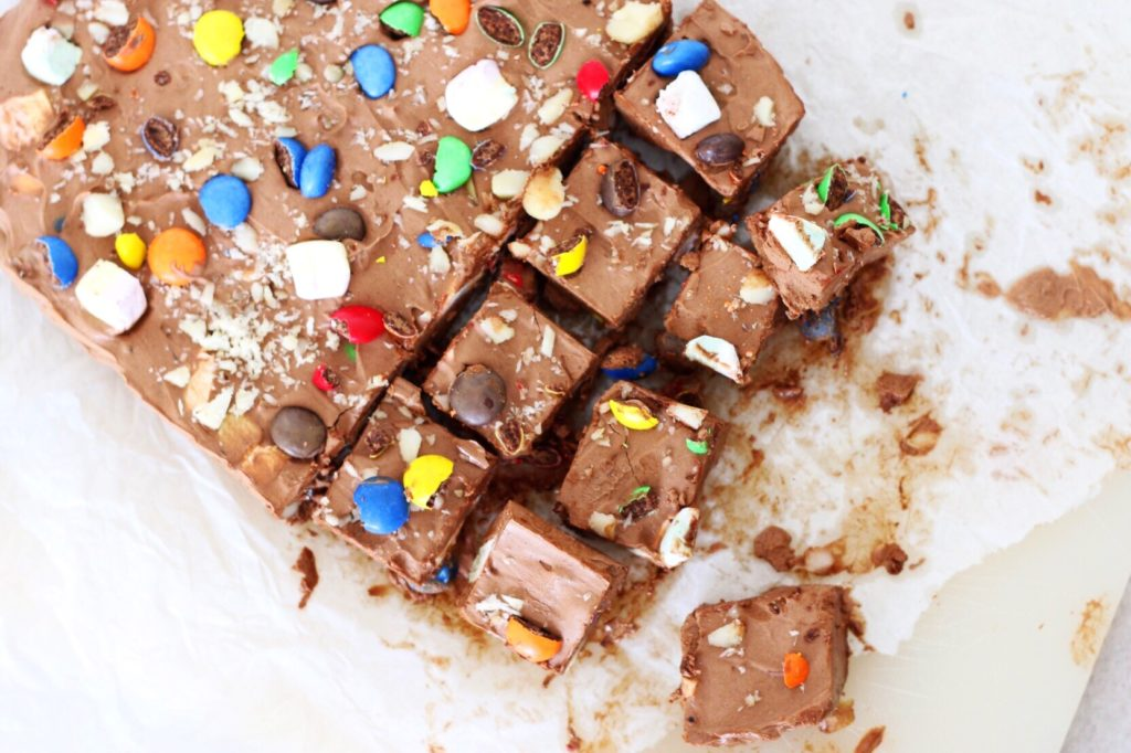 Lowcarb Rocky Road Fudge