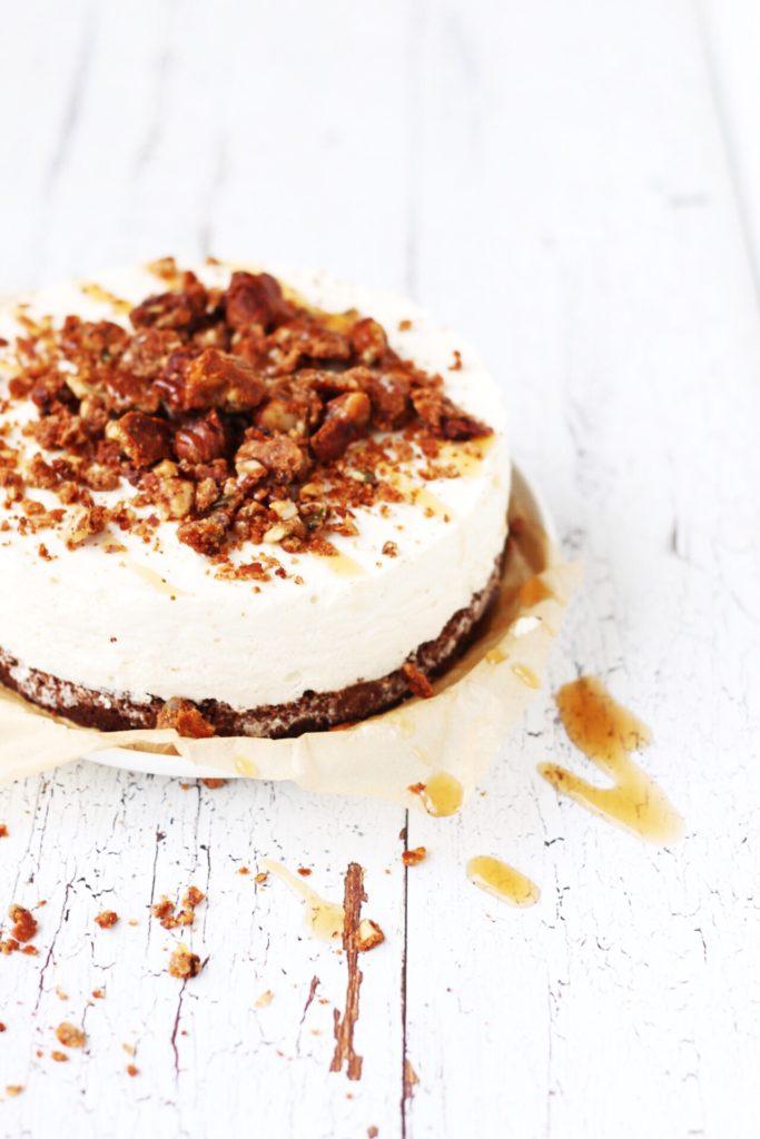 koolhydraatarme cheesecake salty karamel