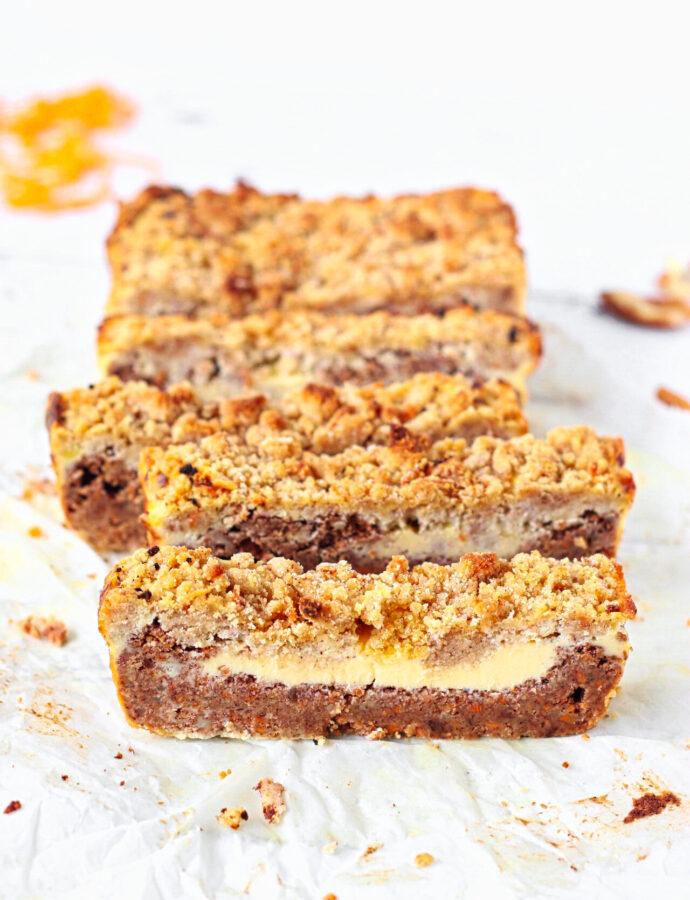 Koolhydraatarme wortel cheesecake bars