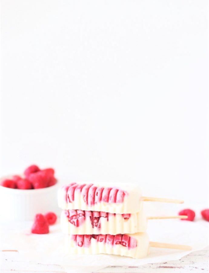 Koolhydraatarme framboos ijsjes