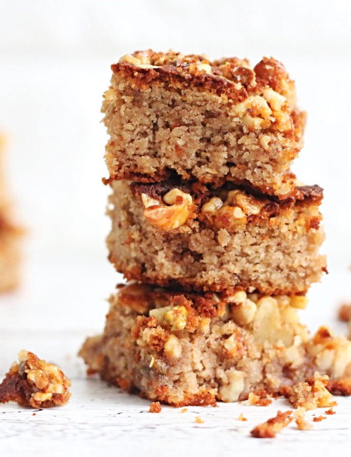 Koolhydraatarme Cake met crunchy noten topping