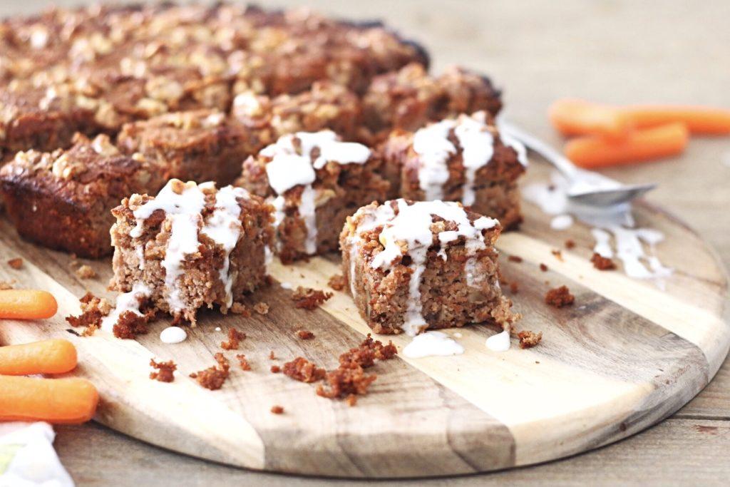 koolhydaatarme worteltjes cake