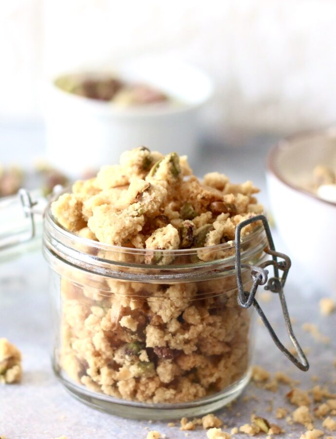 Koolhydraatarme briscotti pistache granola