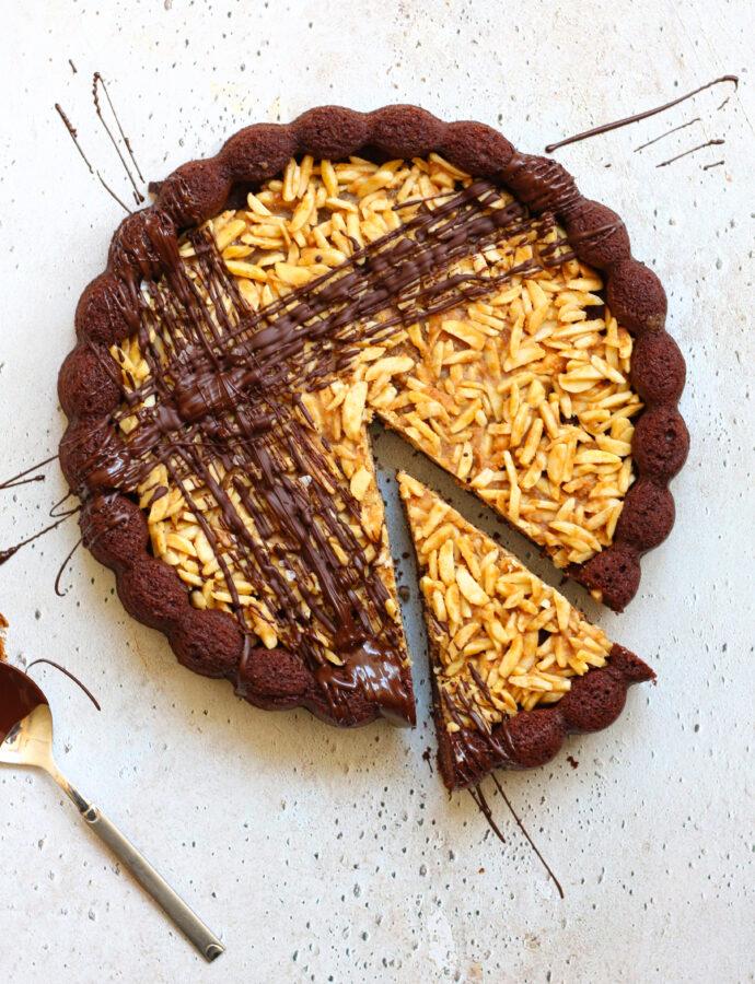 Koolhydraatarme salty karamel chocoladetaart