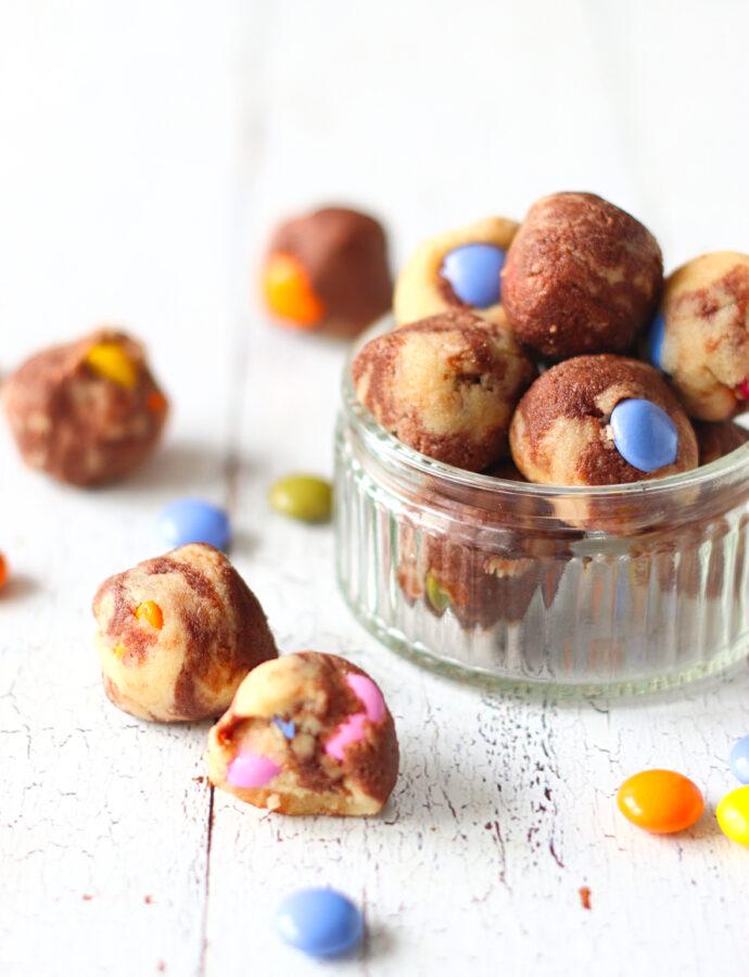 Koolhydraatarme cookie dough bites met chocosmiles