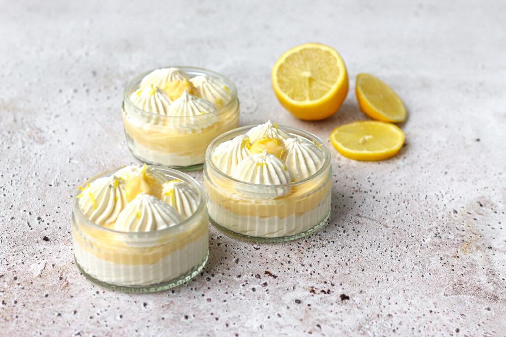 Koolhydraatarme lemon meringue mousse